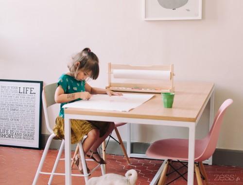 séjour chaise écolier eames