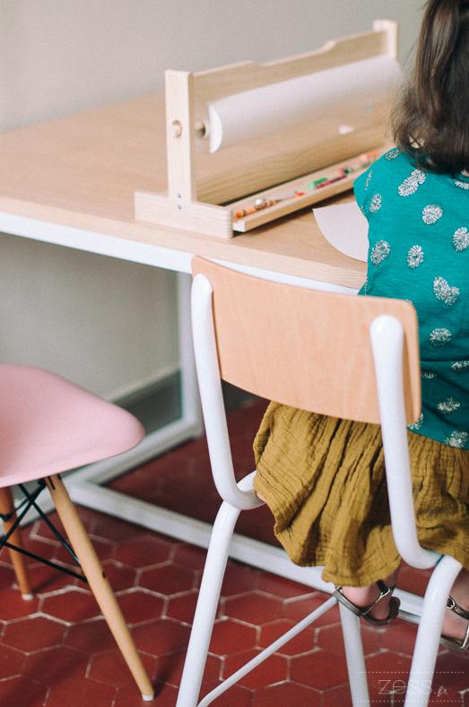 chaise haute style ecolier