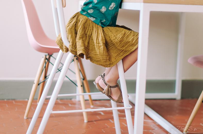 chaise haute rétro
