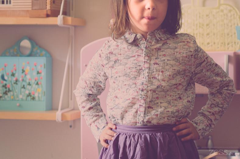 chemise champignon enfant