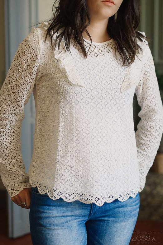 blouse dentelle pimkie