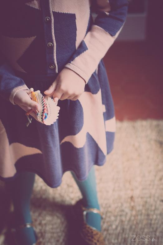 robe tricot etoiles
