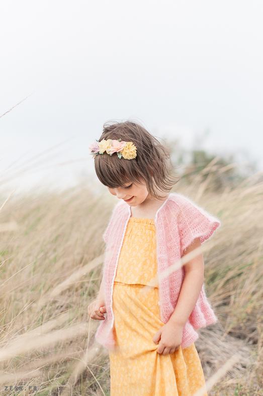 mini dressing au crochet pour enfants mohair
