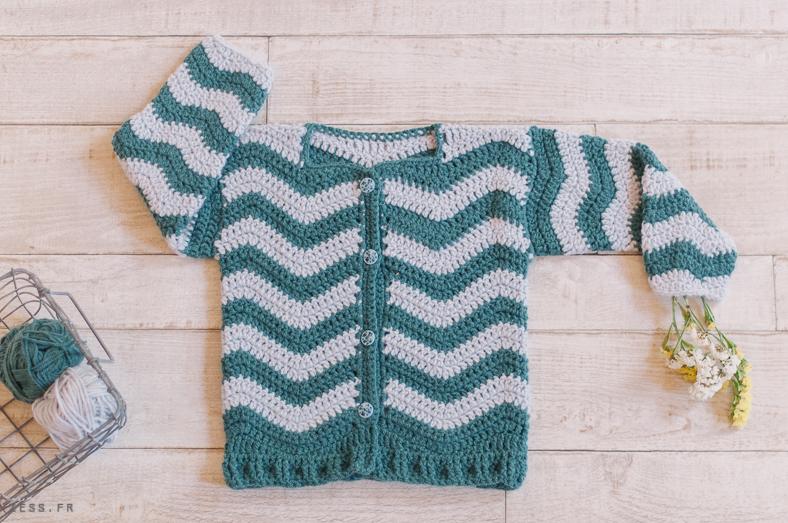 mini dressing au crochet pour enfants