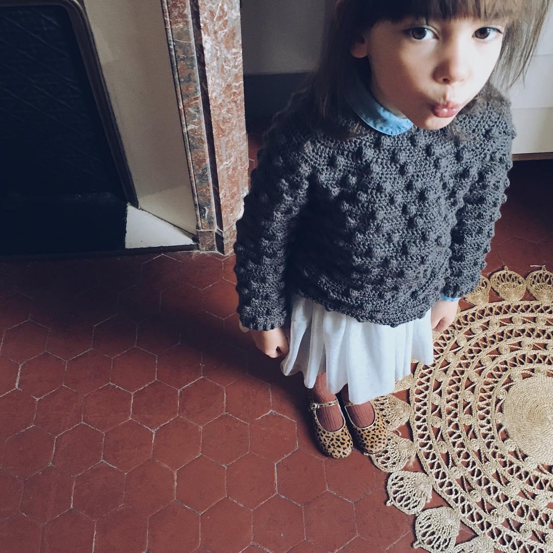 kid look crochet pull