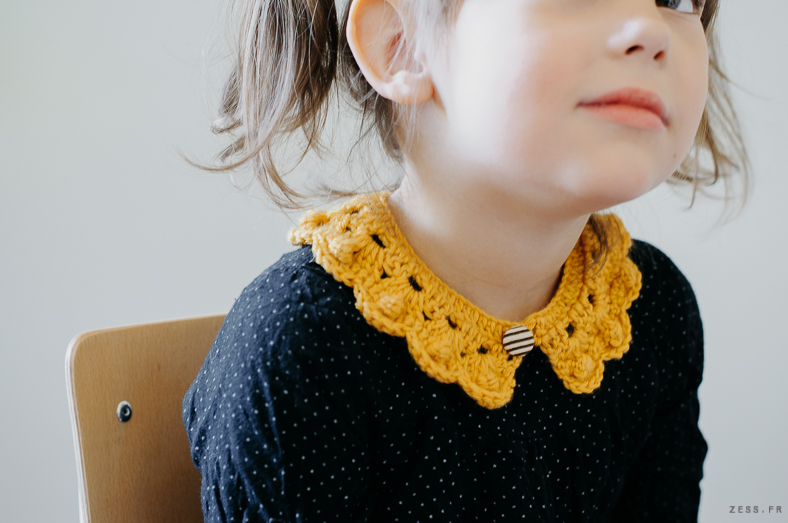 mini dressing au crochet : col