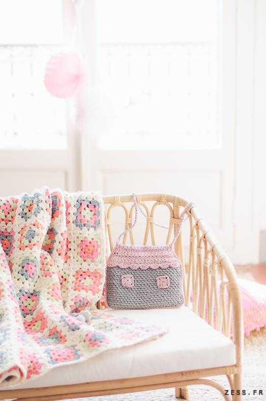 mini-dressing au crochet : sac maison