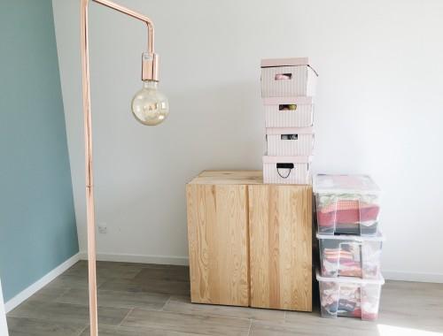 déménagement bureau mur vert d'eau