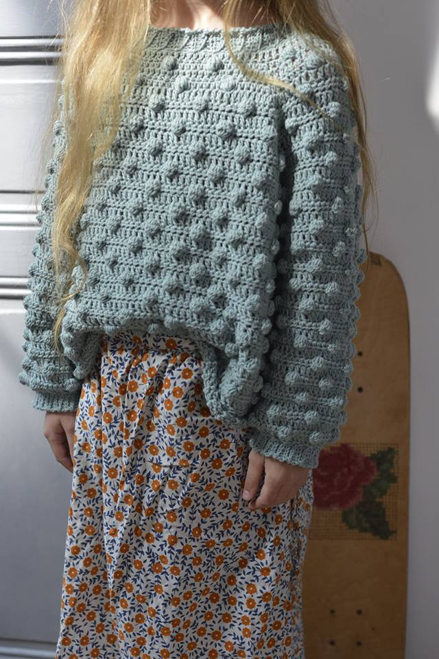pull à nopes crochet