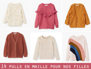 selection maille pull kids