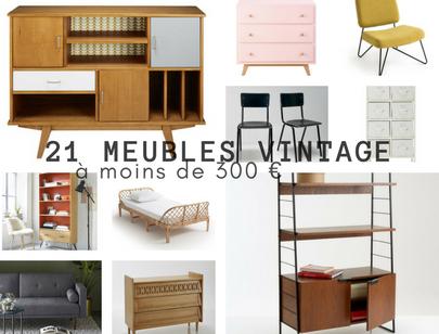 21 meubles vintage à moins de 300€