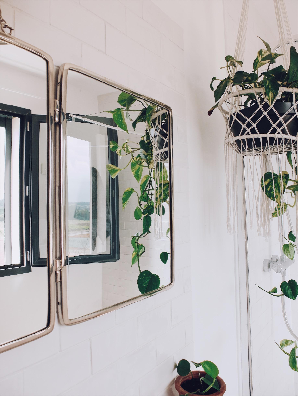 miroir tryptique barbier salle de bain