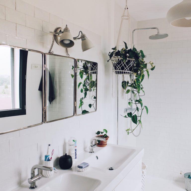 déco salle de bain bohème douche