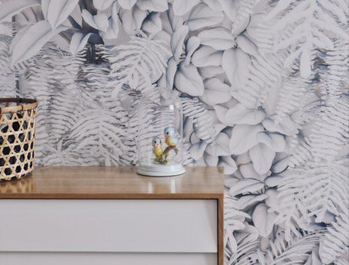 papier peint panoramique feuilles