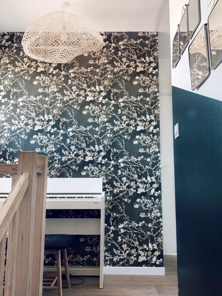 palier escalier papier peint