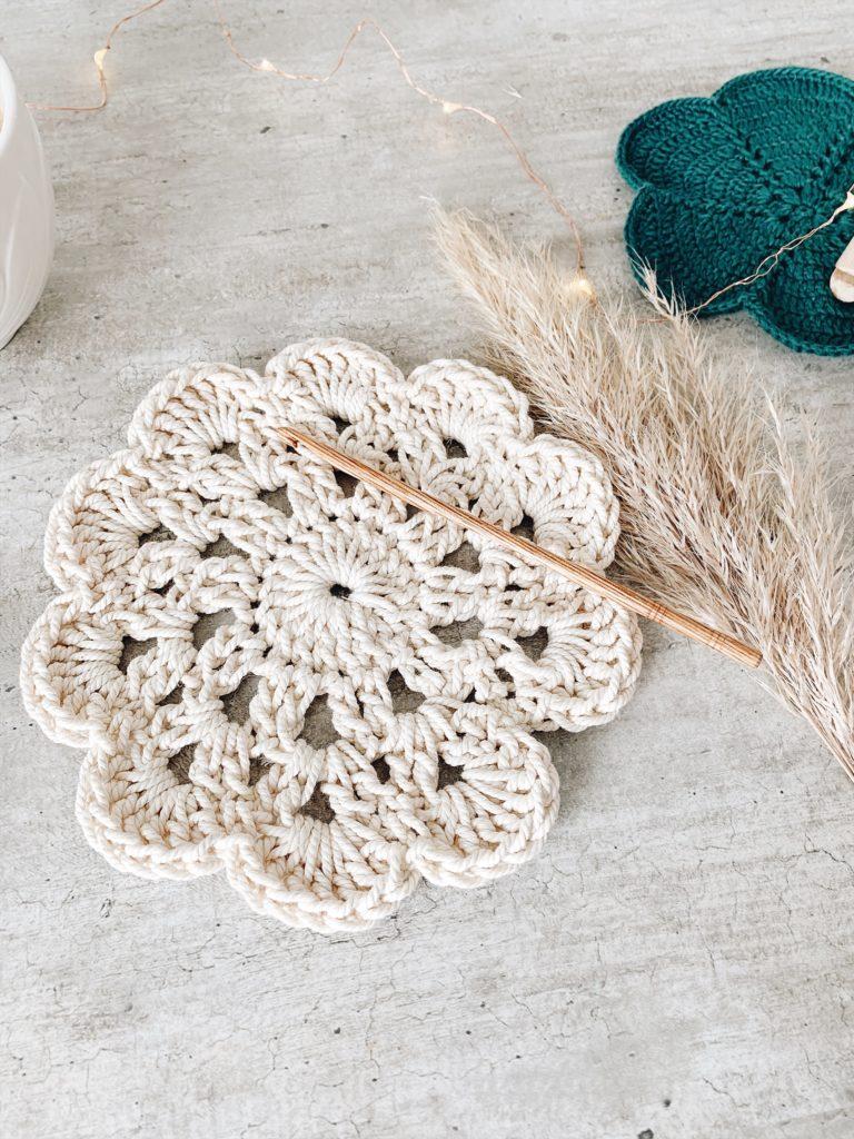 tuto dessous de plat crochet corde