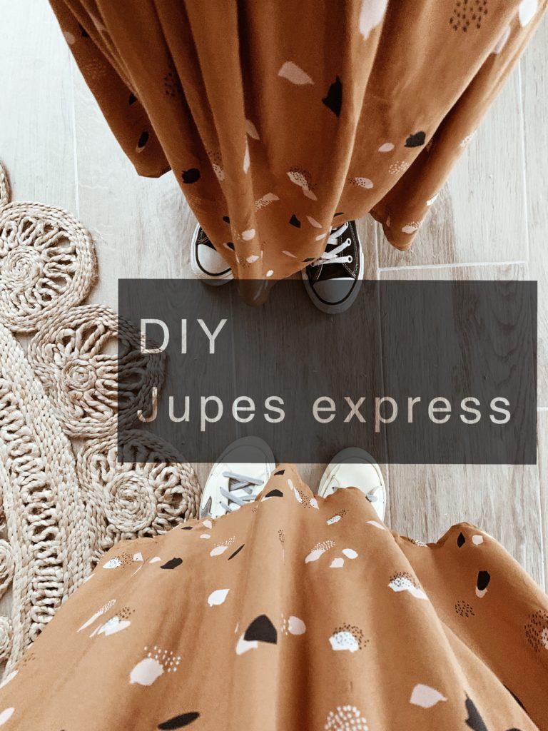 tuto diy jupe express