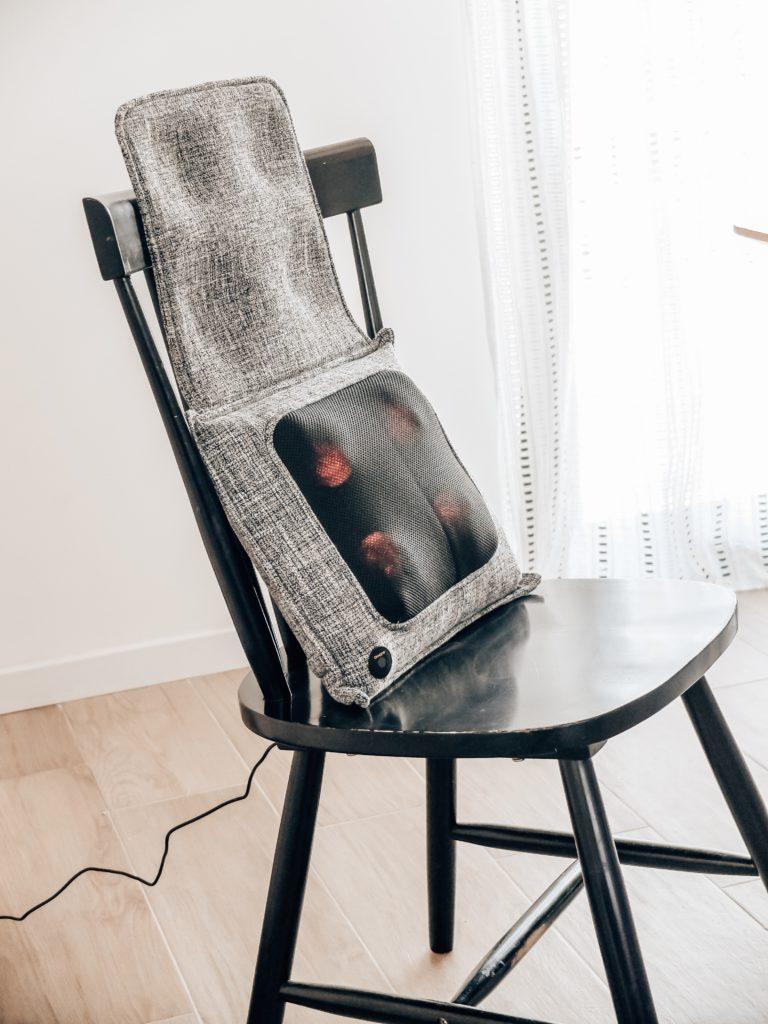 coussin massant la chaise longue