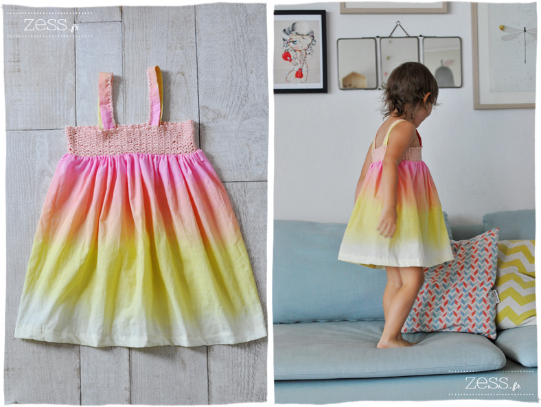 Tuto la robe bi go t crochet et couture lifestyle mode d co maman diy - Tuto tie and dye ...