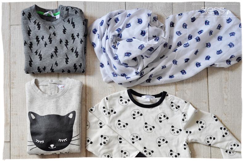 shopping enfant kiabi chat panda look