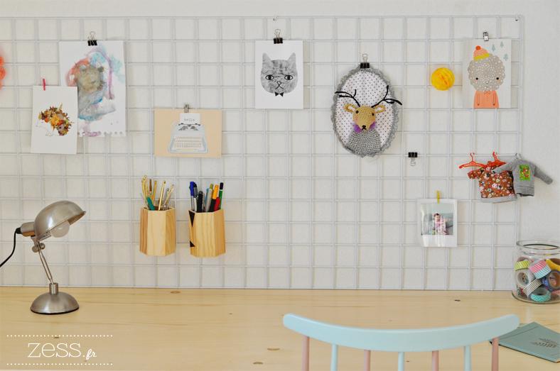 diy un moodboard de bureau pour 3 fois rien lifestyle mode d co maman diy. Black Bedroom Furniture Sets. Home Design Ideas