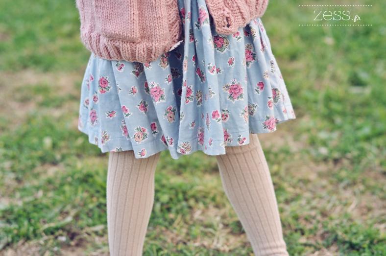 robe vintage fleuri enfant