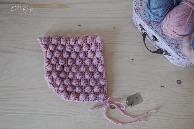 béguin zess pompon crochet handmade