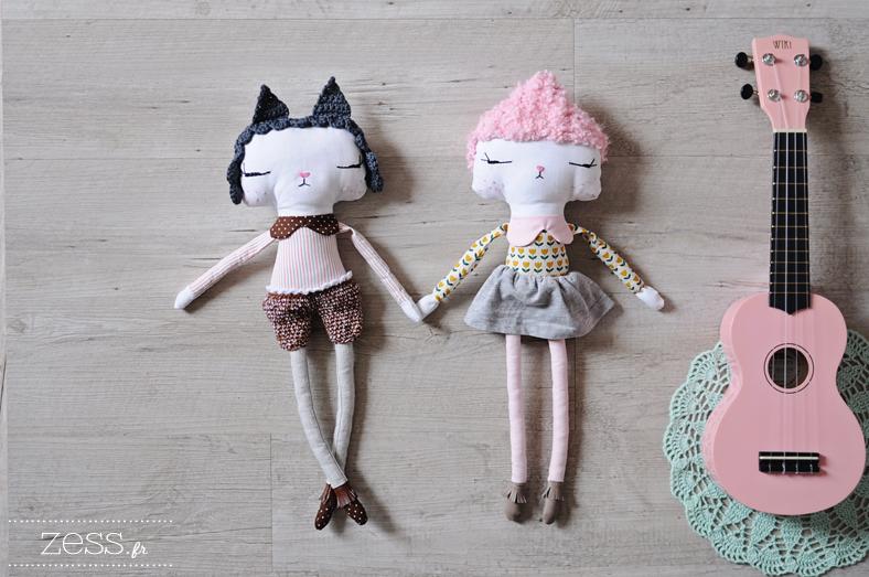 poupée couture handmade dolls zess