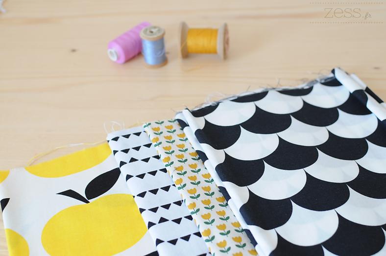 tissus pommes géométrique boutique ebay