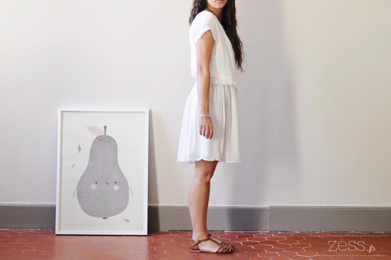 robe pimkie blanche pirum parum