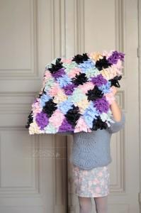tutorial couture housse de coussin multicolore