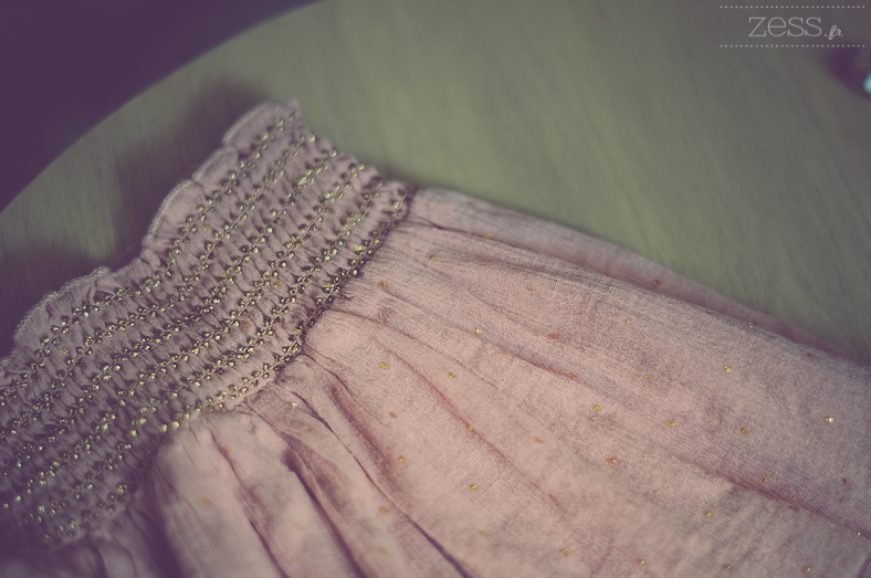 jupe froissée