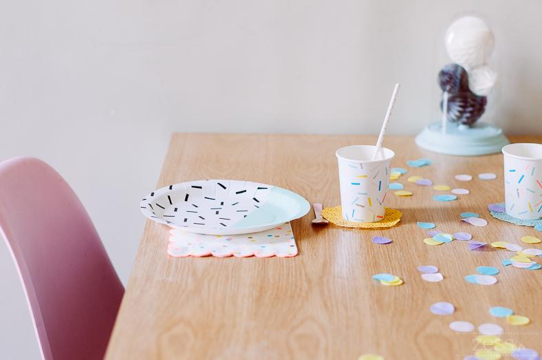 sweet table vaisselle