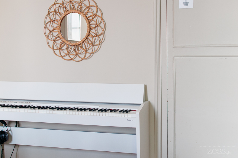 piano miroir rotin