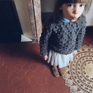 kid look crochet pull