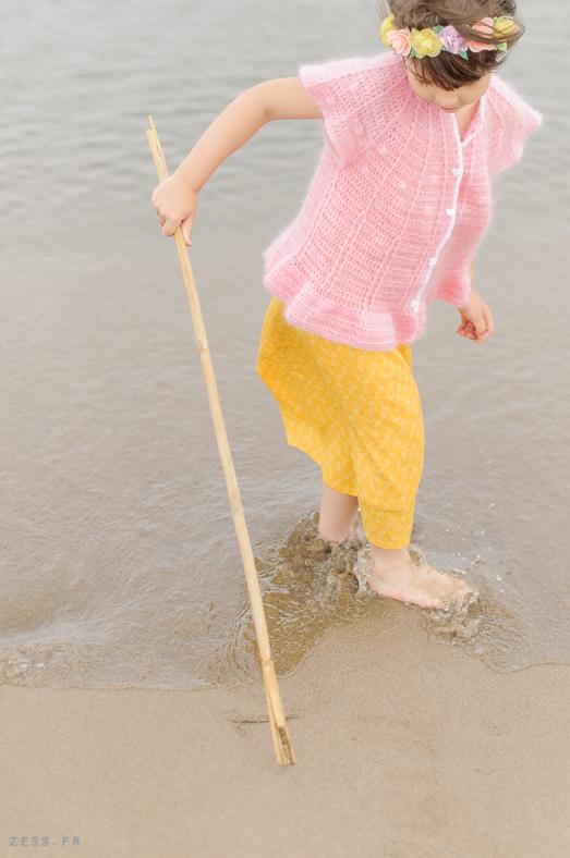 shooting mini dressing au crochet pour enfants