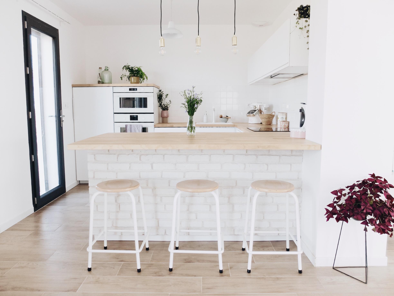 Poignée De Cuisine Ikea construction maison : notre cuisine blanche et épurée (avis