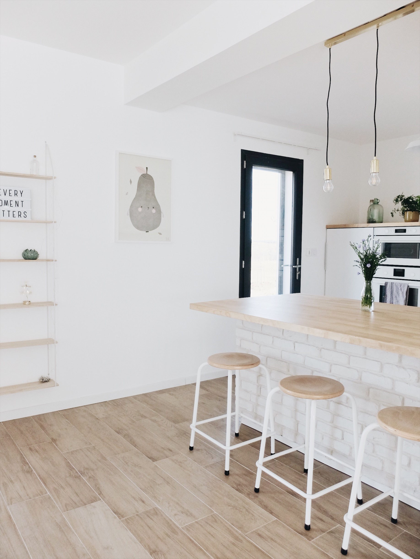 Cuisine Ikea Ouverte Sur Salon construction maison : notre cuisine blanche et épurée (avis
