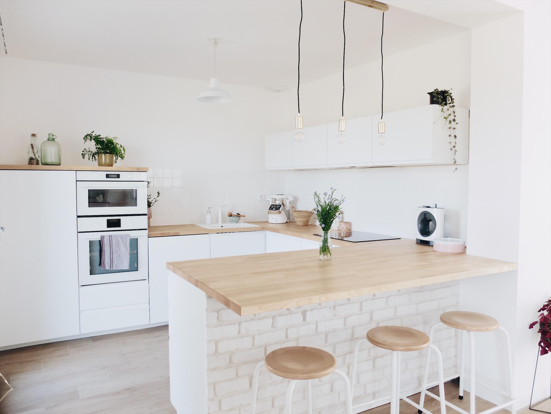 Porte Cuisine Sur Mesure Ikea construction maison : notre cuisine blanche et épurée (avis