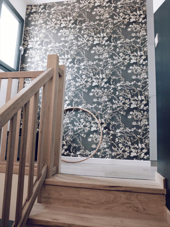 décoration palier escalier vintage