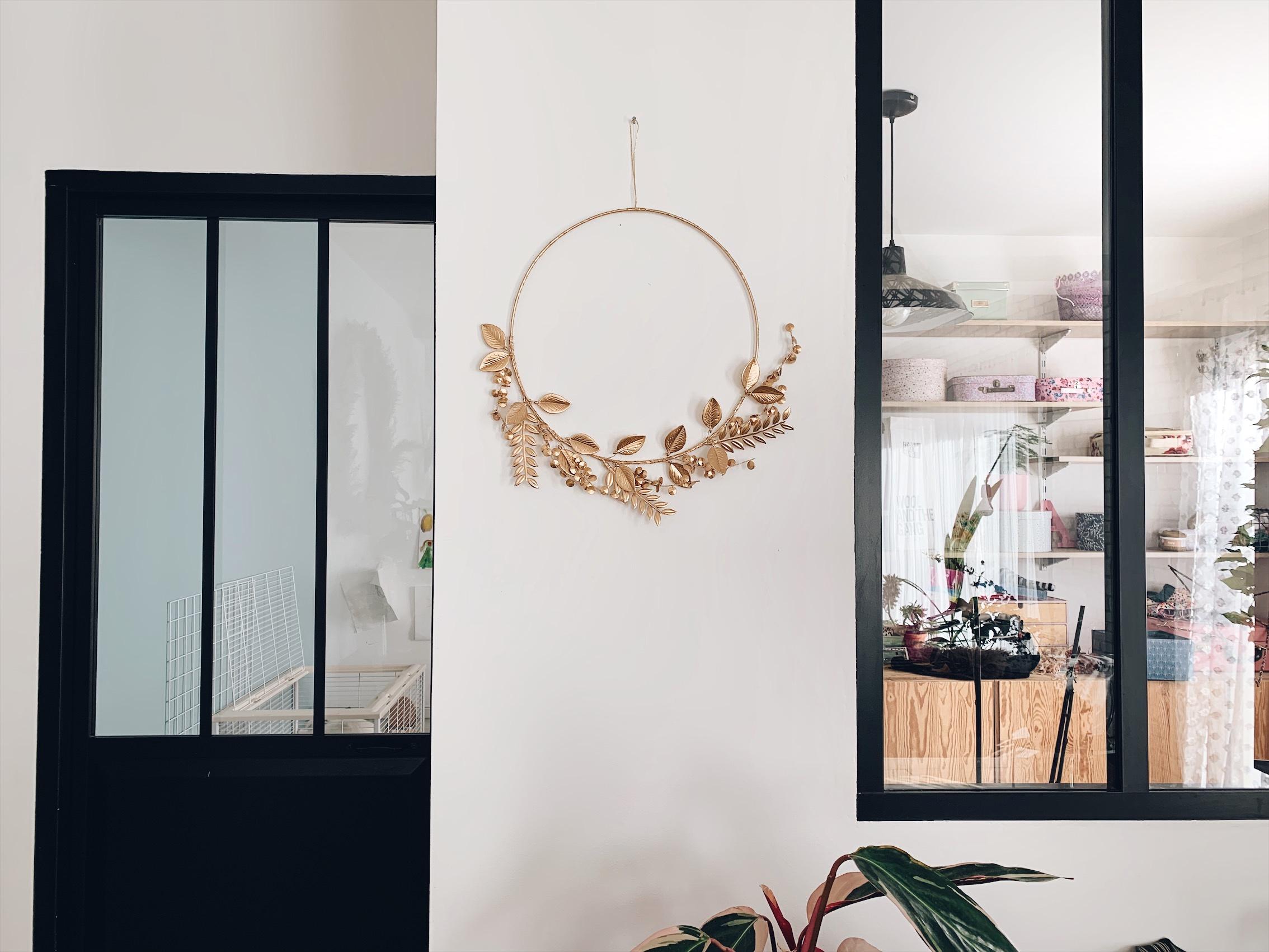 couronne florale metal maisons du monde