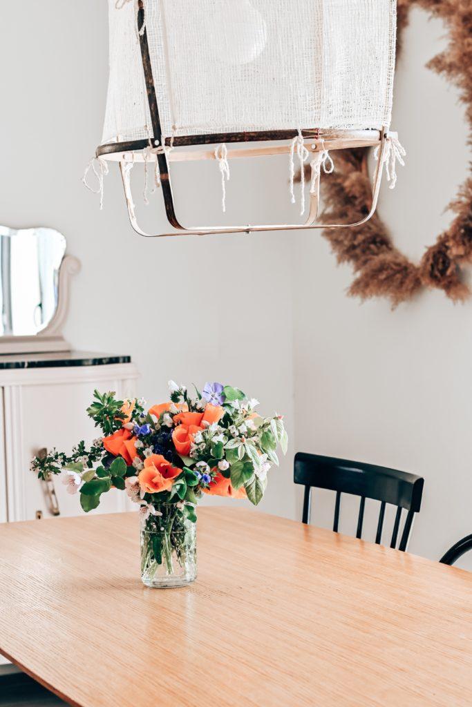 déco bouquet table