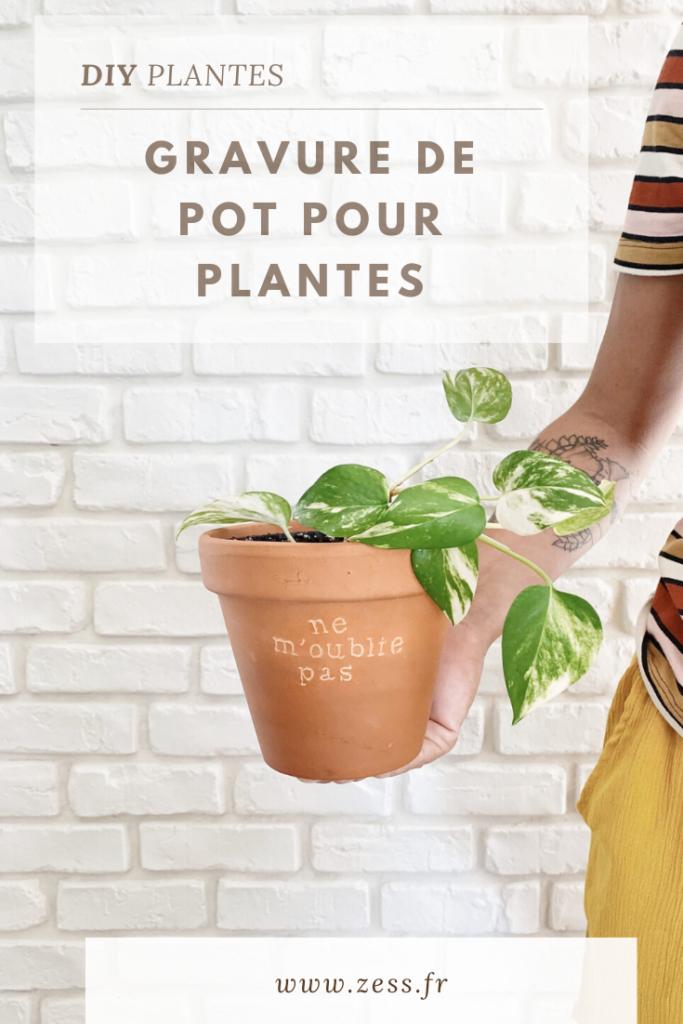diy gravure de pot pour plantes